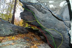 Rock Climbing Photo: The yellow line
