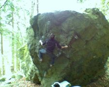 Rock Climbing Photo: Setting up for the punch.