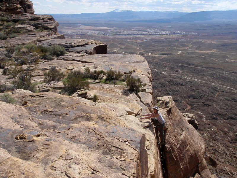 Rock Climbing Photo: The ladder descent on the left most side of the cl...