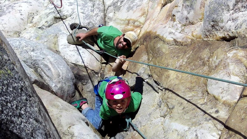 Rock Climbing Photo: Zachary Moore about to get scrappy with the chimne...