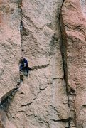 Rock Climbing Photo: A friend gracefully working his way up the first p...