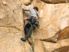 Rock Climbing Photo: Cracker Jack on lead.