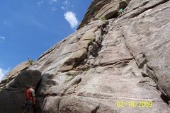 Rock Climbing Photo: Marc leading, Paul following.  Awesome beginner le...
