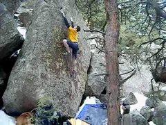 Rock Climbing Photo: Misha finishing it up.