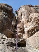 Rock Climbing Photo: Marc's first time up a difficult 9.  Can't wait to...