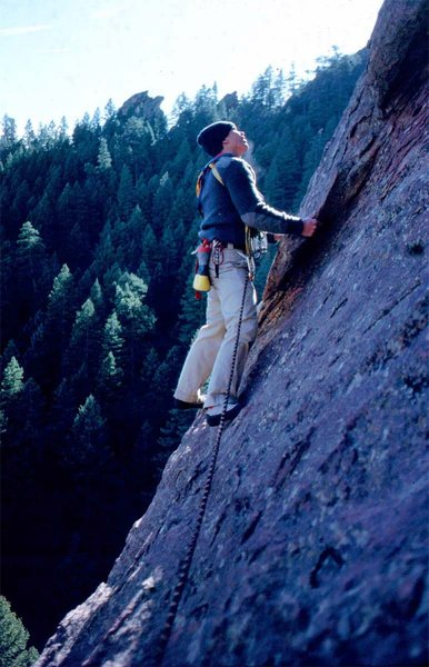 Rock Climbing Photo: Rock enjoying the cold.