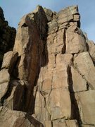 Rock Climbing Photo: The Rodent- a fun bolted line up the arete on the ...