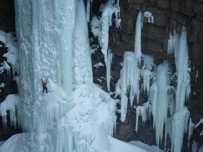 Climber: Matt Cova, Grand Junction, CO. 3-13-2010.