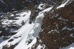 Rock Climbing Photo: The left flow as seen from the right flow. The bet...