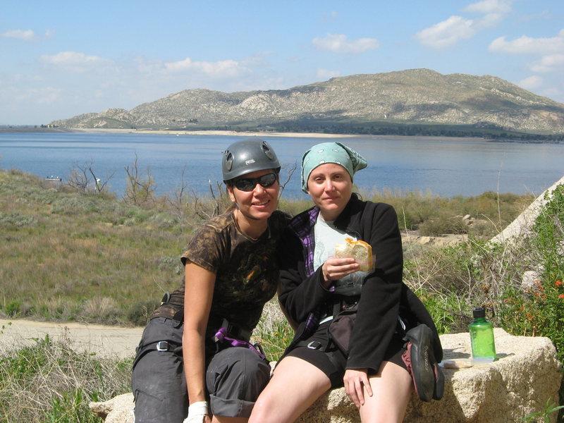 Rock Climbing Photo: Agina and Kat.  3-13-10