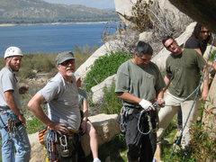 Rock Climbing Photo: Nathan, Me, Kat (behind me), Albert, Sean and Roge...