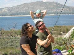 Rock Climbing Photo: Roger, Sean and Kat.  3-13-10