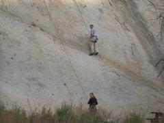 Rock Climbing Photo: John Cardmon and Noelle Ladd.  3-13-10