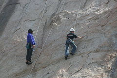 Rock Climbing Photo: Albert giving Shayne some instruction. 3-13-10