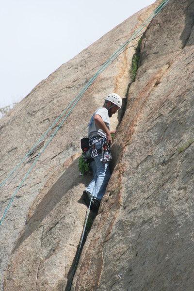Rock Climbing Photo: Nathan on the Rat Crack.  3-13-10