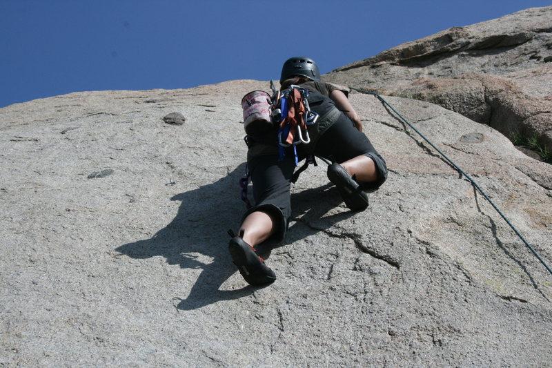 Rock Climbing Photo: Agina on Edger Sanction. 3-13-10