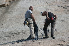 Rock Climbing Photo: John Cardmon and Noelle Ladd getting ready for som...