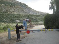 Rock Climbing Photo: Agina helping Nathan???  3-13-10