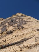 Rock Climbing Photo: Windy day on the route.
