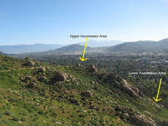 Rock Climbing Photo: Accomazzo Area from the Bee Wall.
