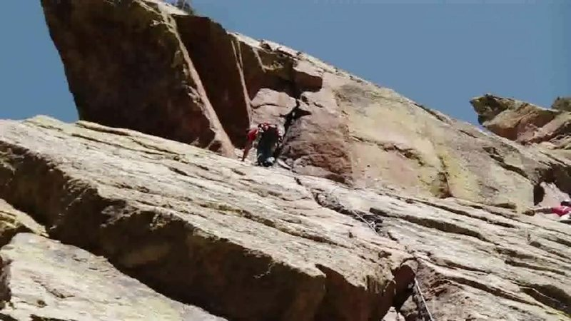 Rock Climbing Photo: Matt on grandmother's challenge on the redgarden w...