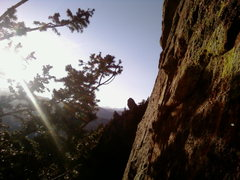 Rock Climbing Photo: looking west from the last pich of the green sper