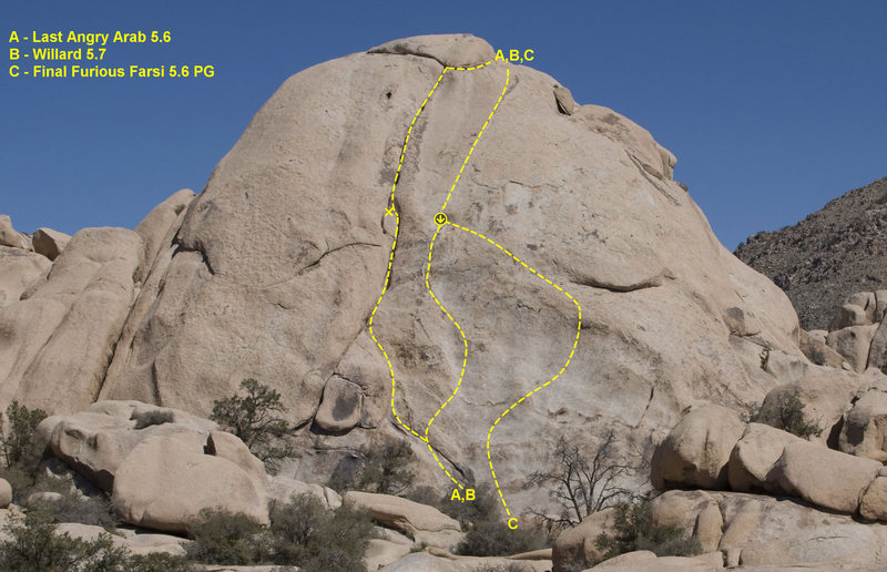 A few routes on Nomad Dome