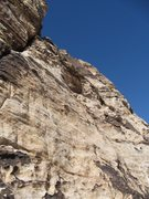 Rock Climbing Photo: Start of Pitch 2 - traverse out right to the good ...