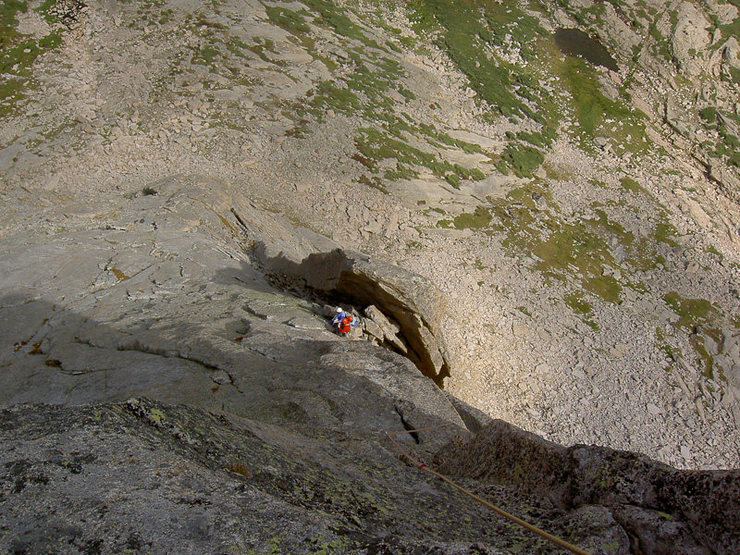 Rock Climbing Photo: high on the route...