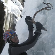Rock Climbing Photo: Demoing the latest in multi function ice tools. An...