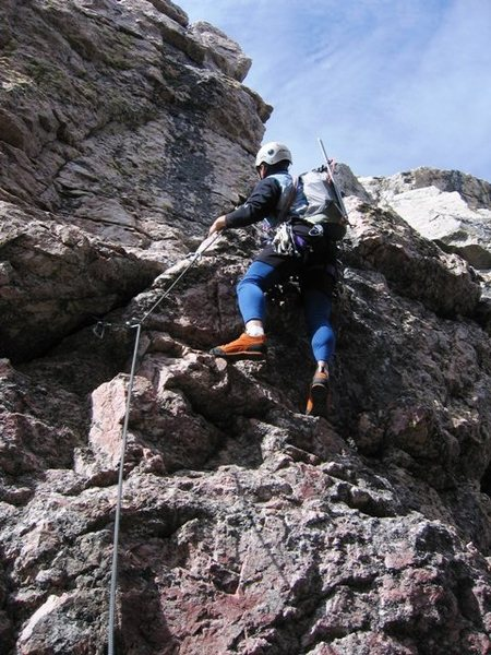 Rock Climbing Photo: What Rudy said about where to ski...(hot dog the m...