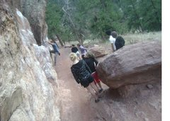Rock Climbing Photo: hanging out with friends on flagstaff mnt on the m...