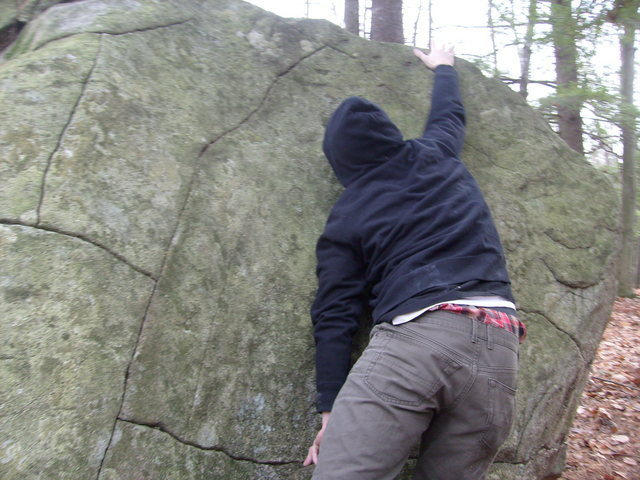 Me having a good time on the short problems of Mt. Major.<br> <br> On the orange trail.
