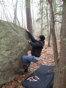 Rock Climbing Photo: Zach stylin'.  On the orange trail.