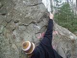 Me enjoying the good rock at Mt. Major.<br> <br> On the orange trail.