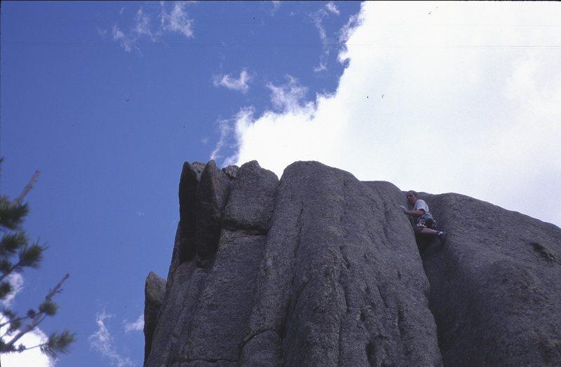 "On ""A Twigs Lament"" at Triangle Rock, Lumpy Ridge, May 2001"