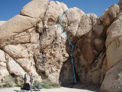 Rock Climbing Photo: Poppa Spider - Route