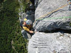 Rock Climbing Photo: Les Buis pitch 6