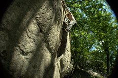 Rock Climbing Photo: Tom Little Warming up on The Crescent.