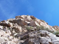 """Rock Climbing Photo: The """"V"""" notch on Pitch 4, with the &quot..."""
