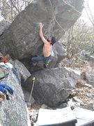 Rock Climbing Photo: Gaining the crimp. Photo: Vince
