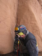 Rock Climbing Photo: Yikes! Re-setting and testing the first piece off ...