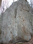 Rock Climbing Photo: start in pocket beneath water groove, climb left a...