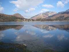 Rock Climbing Photo: Grasmere Lake .With the pass of Dunmail Raise in t...