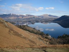Rock Climbing Photo: Derwent Water with Skiddaw and Blencathra mountain...