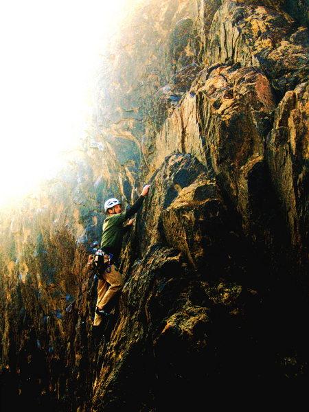 Rock Climbing Photo: fun in the (twilight) sun