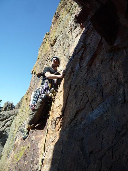 Rock Climbing Photo: The last pitch.