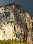 Rock Climbing Photo: Les Buis approximate line of ascent
