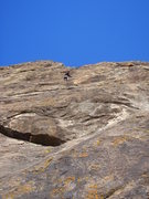 Rock Climbing Photo: The fun, long pitch 5.