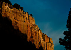 Rock Climbing Photo: Unknown climber enjoying last light on Muscle Beac...